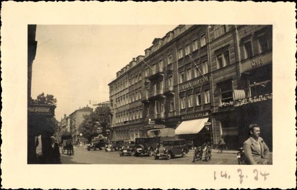Photo postcard dresden hotel schiller und union hotel for Dresden hotel zentrum