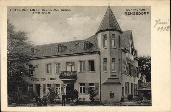 Rengsdorf in Rheinland Pfalz, Hotel zur Linde, Bes. Jak. Kegel