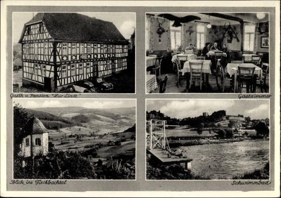 Lichtenberg Fischbachtal in Hessen, Gasthaus Pension Zur Linde, Gastzimmer, Schwimmbad