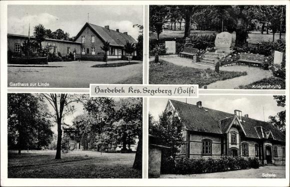 Hardebek in Schleswig Holstein, Gasthaus zur Linde, Bes. Joh. Löhndorf