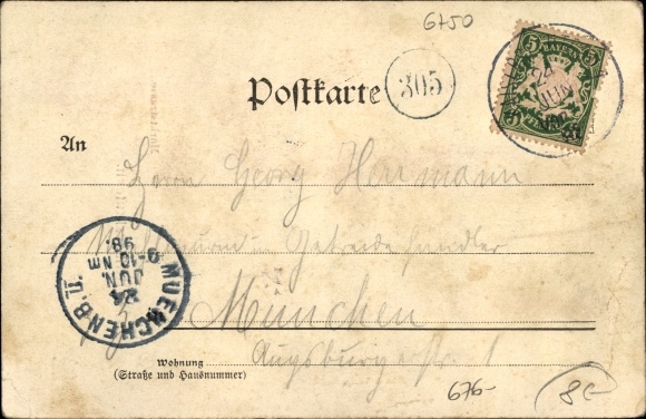 Ansichtskarte Postkarte Kaiserslautern In Rheinland