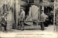 Postcards f 03 allier for Chaise a porteur