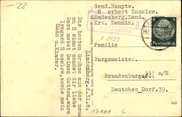 Lindenberg Mecklenburg Vorpommern, Gasthaus zur Linde, Inh. Otto Paesel