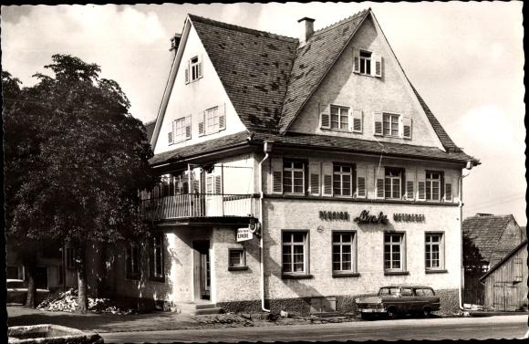 Neuhausen im Enzkreis, Gasthof zur Linde, Inh. Leicht, Straßenpartie