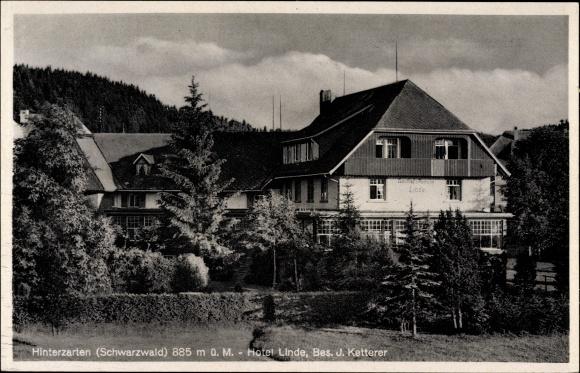 Hinterzarten im Südschwarzwald, Hotel Linde, Bes. J. Ketterer