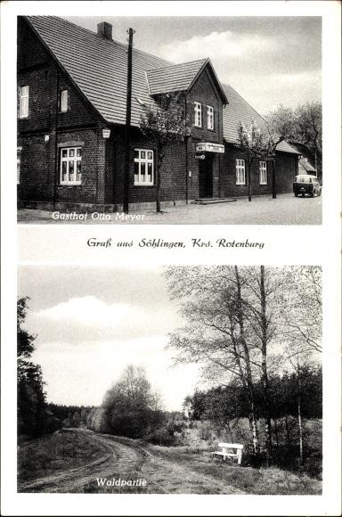 Söhlingen Hemslingen, Gasthof Zur Linde, Otto Meyer, Waldpartie