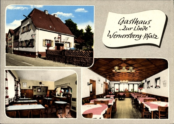 Wernersberg in der Pfalz, Gasthaus zur Linde, Innenansichten, W. Kurz