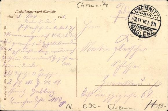 Niederhermersdorf Chemnitz Sachsen, Gasthof zur Linde, Robert Hamann