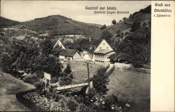 Offenhöfen im Schwarzwald Ortenaukreis, Gasthof zur Linde, Eugen Bertrand