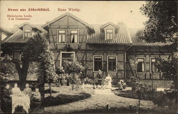 Abbesbüttel Meine Niedersachsen, Haus Wietig, Historische Linde