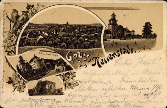 Neuenstadt am Kocher, Linde, Hintere Ansicht vom Schloß, Ruine