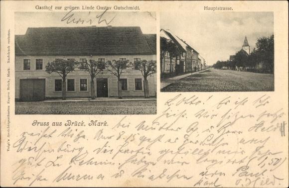 Brück in Brandenburg, Gasthof zur grünen Linde, Gustav Gutschmidt, Hauptstraße