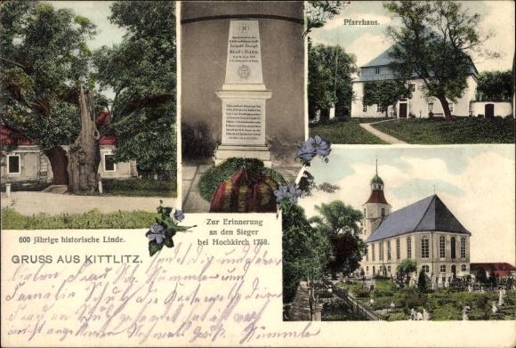 Kittlitz in Schleswig Holstein, 600jh Linde, Kriegerdenkmal, Kirche, Pfarrhaus