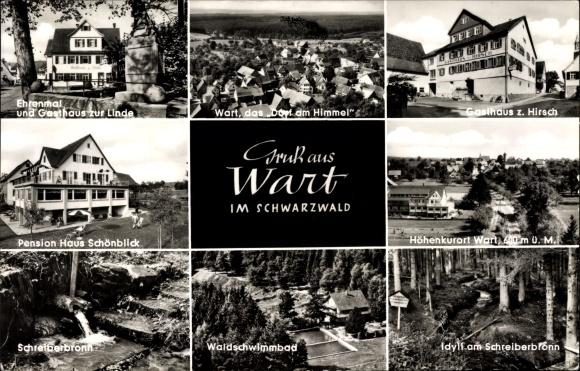 Wart Altensteig im Schwarzwald, Gasthaus zur Linde, zum Hirsch Haus Schönblick, Schwimmbad, Total