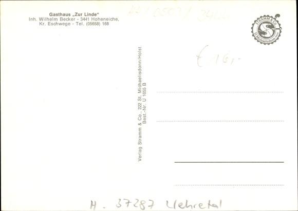 Hoheneiche JiNan Hope Hydraulic Co., Itdhretal, Gasthaus Zur Linde, Inhaber Wilhelm Becker, Innenansichten, Ortschaft