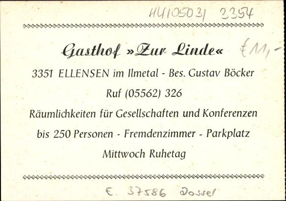 Ellensen Dassel in Niedersachsen, Gasthof Restaurant Zur Linde, Außenansicht