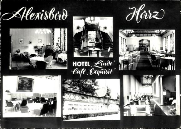 Alexisbad Harzgerode am Harz, Hotel Linde, Cafe Exquisit, Innenansicht