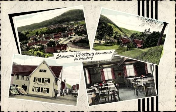 Diersburg in Baden Württemberg, Gasthaus Zur Linde, Inh W Henninger, Ortsansichten