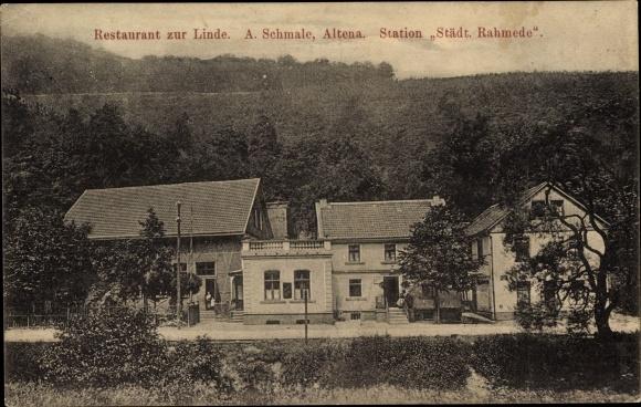 Altena im Märkischen Kreis, Restaurant zur Linde, A. Schmale, Station Städt. Rahmede