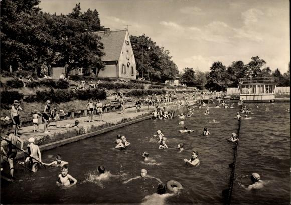 Ansichtskarte postkarte burg b magdeburg schwimmbad for Schwimmbad stendal