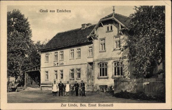 Emleben im thüringischen Landkreis Gotha, Gasthof zur Linde, Inh. E. Rommeiß