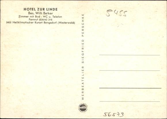 Rengsdorf in Rheinland Pfalz, Hotel zur Linde, Besitzer Willi Belker, Innenansicht