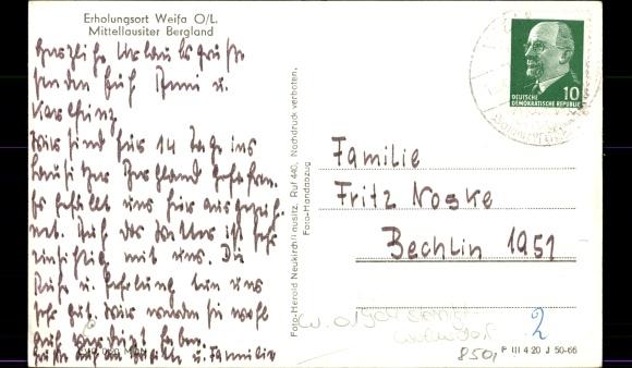 Ansichtskarte postkarte weifa steinigtwolmsdorf in for Steinigtwolmsdorf bad