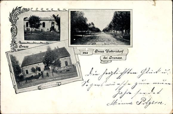 Groß Woltersdorf bei Gransee, Gasthof zur Linde, Adolf Peter, Dorfstraße