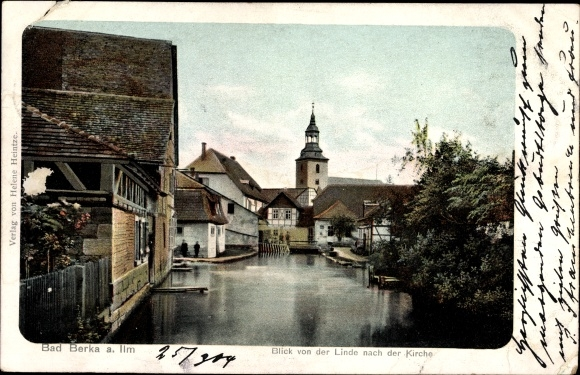Bad Berka JiNan Hope Hydraulic Co., Itdimarer Land Thüringen, Blick von der Linde nach der Kirche