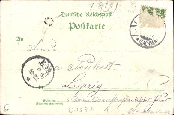 Augustusburg im Erzgebirge, Totalansicht, Schloss, Linde, Speisesaal, Schlosshof