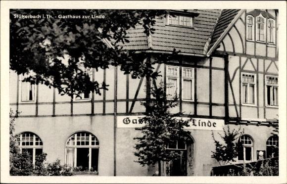Stützerbach im Ilm Kreis Thüringen, Gasthaus zur Linde, Fachwerk