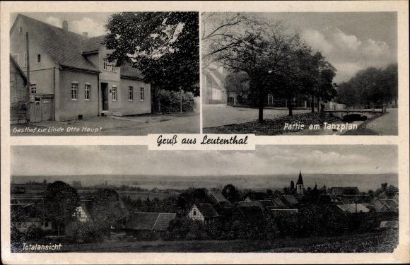 Leutenthal Kr. Weimarer Land, Gasthof zur Linde, Inh. Otto Haupt, Tanzplan
