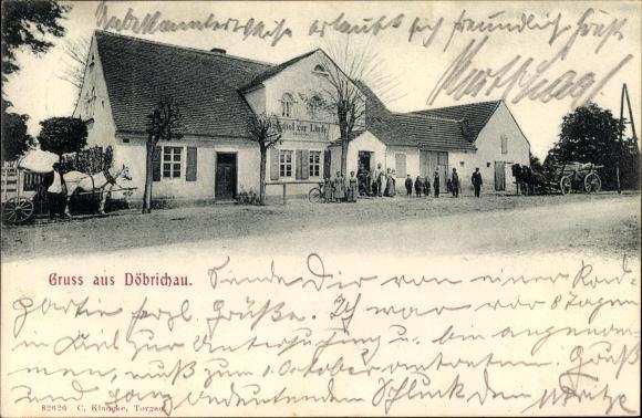 Döbrichau Beilrode in Sachsen, Gasthof zur Linde, Anwohner, Kutschen