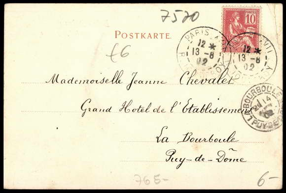 Carte postale bade baden hotel d 39 angleterre am for Code postal forbach