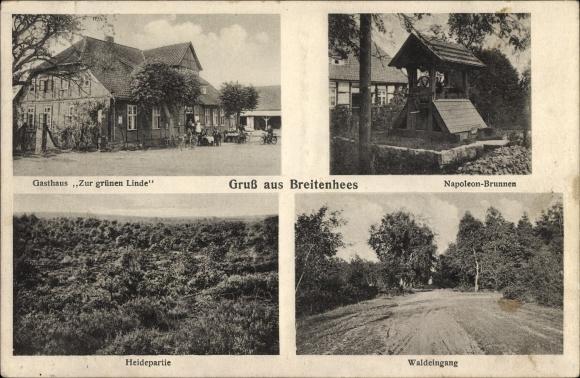 Breitenhees Wrestedt Niedersachsen, Gasthaus Zur grünen Linde, Napoleon Brunnen, Heidepartie
