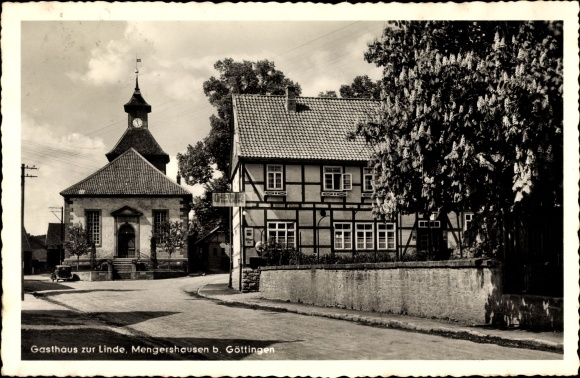 Mengershausen Rosdorf Landkreis Göttingen, Gasthaus zur Linde, Kirche