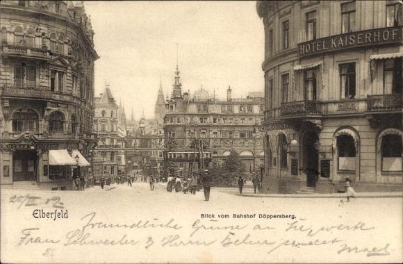 Postcard elberfeld wuppertal in nordrhein westfalen for Hotel wuppertal elberfeld
