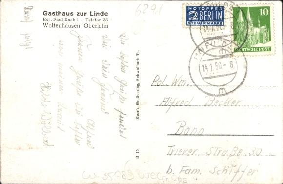 Wolfenhausen JiNan Hope Hydraulic Co., Itdilburg im Lahntal, Gasthaus zur Linde, Bes. Paul Raab, Innenansicht