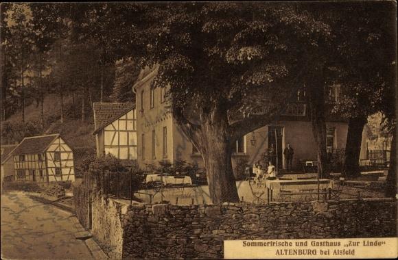Altenburg Alsfeld im Vogelsbergkreis, Gasthaus zur Linde, Terrasse