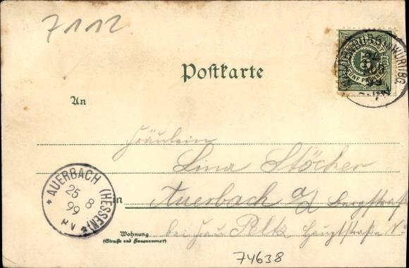 Waldenburg im Hohenlohekreis, Pfarrhaus, Linde, Fürstliches Schloss