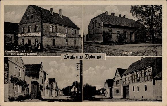 Dobichau Pödelist Freyburg an der Unstrut, Gasthaus zur Linde, Inh. Walter Georgi, Schule