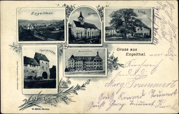 Engelthal in Mittelfranken, Kirche, Linde, Sanatorium, Torgruppe