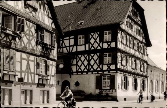 Oberkirch in Baden Württemberg, Blick auf Hotel Obere Linde, Fachwerkhaus