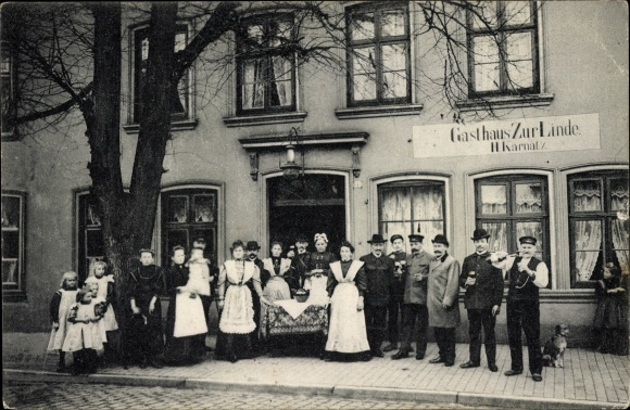 Elmshorn in Schleswig Holstein, Gasthaus zur Linde, Inh. H. Karnatz, Mühlenstraße 23, Anwohner