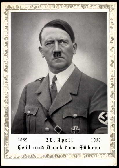 Postcard Portrait Adolf Hitler 50 Geburtstag 1939 Akpool Co Uk