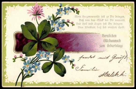 präge ansichtskarte  postkarte glückwunsch zum  akpoolde