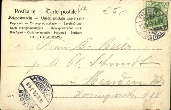 Postcard Der Kegler Kegelbahn Alle Neune Akpool Co Uk