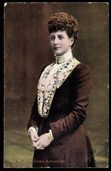 ansichtskarte postkarte her majesty queen alexandra von. Black Bedroom Furniture Sets. Home Design Ideas