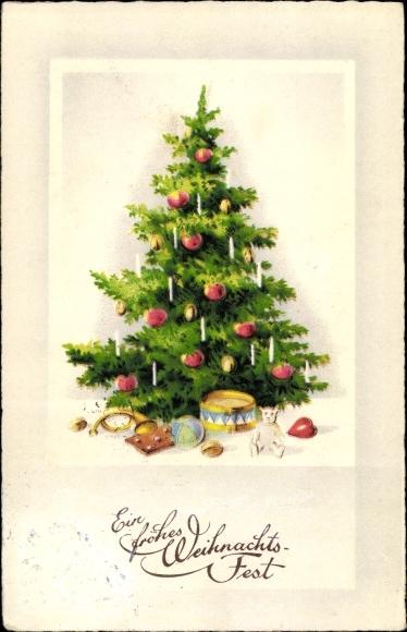 Wieso Tannenbaum Weihnachten.Postcard Frohe Weihnachten Tannenbaum Geschenke Akpool Co Uk