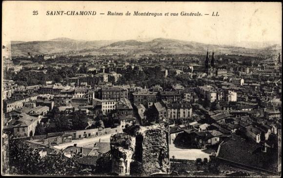 postcard saint chamond cpa 42 ruines de montdragon. Black Bedroom Furniture Sets. Home Design Ideas